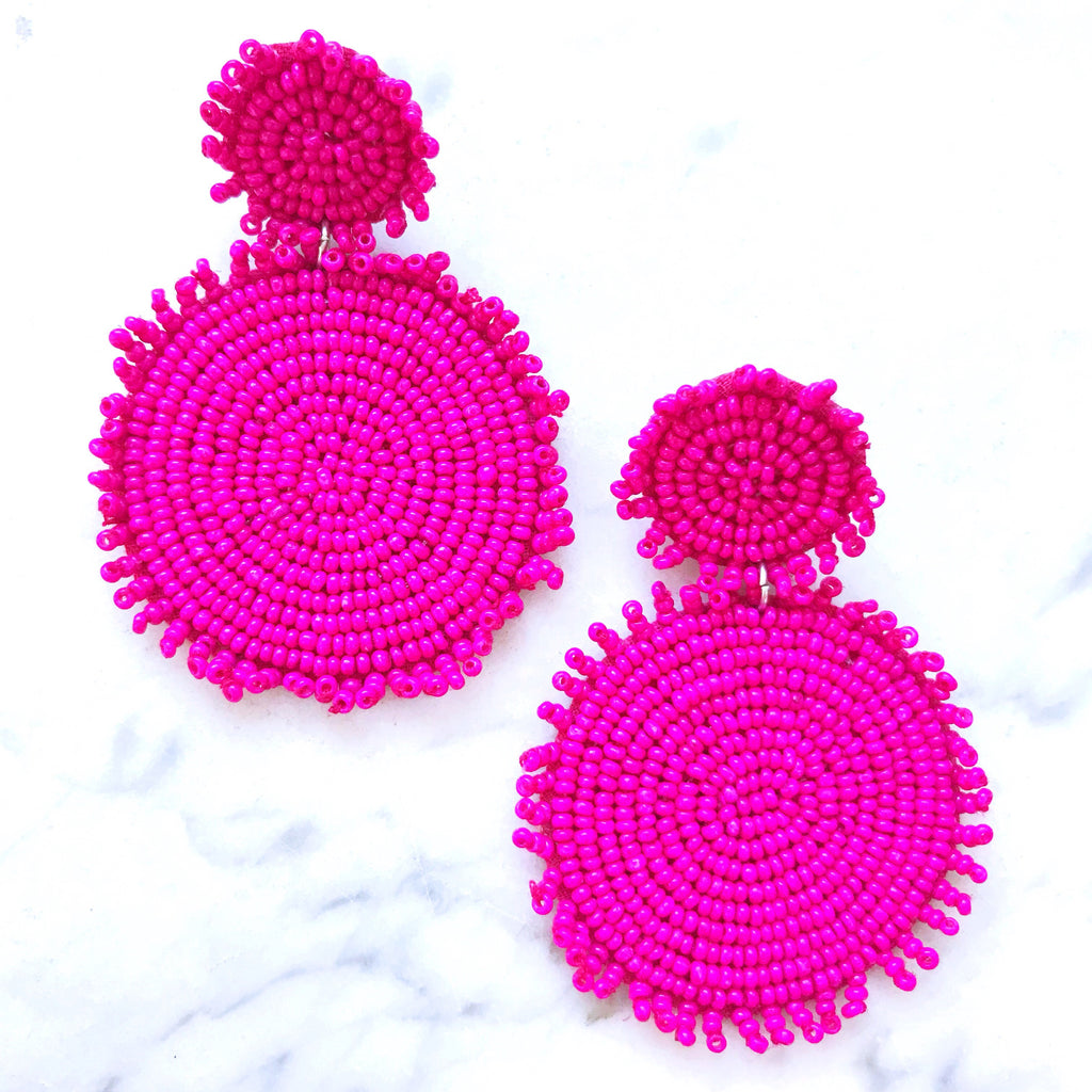 Margarita Earrings - Fuschia