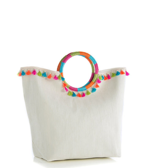 Key West Tassel Tote - Ivory