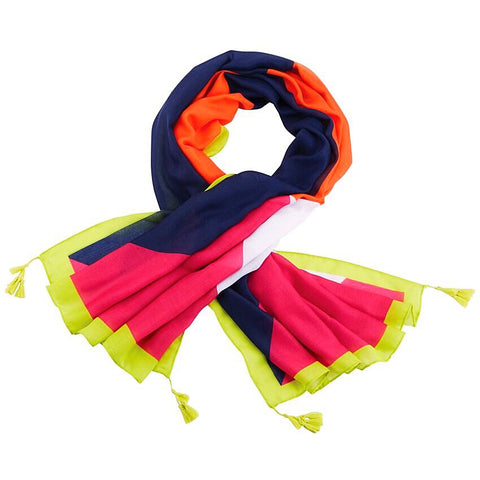 Color-Block Summer Scarf - Multi