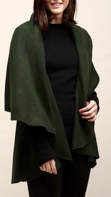 Classic Shawl Vest - Hunter Green