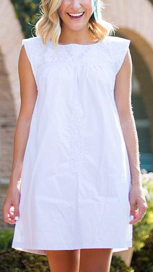 Oh Maria Embroidered Dress - White