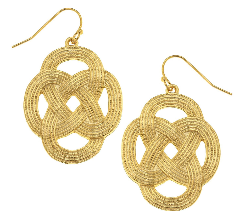 Sailor Knot Earrings - Gold