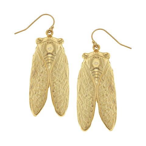Cicada Earrings - Gold