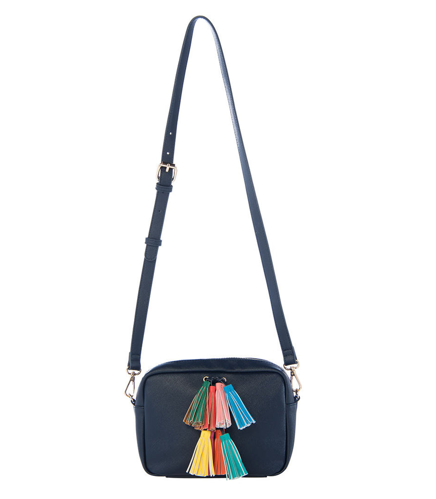 Maria Tassel Crossbody - Navy