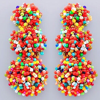 Beaded Bon Bon Earrings - Fiesta