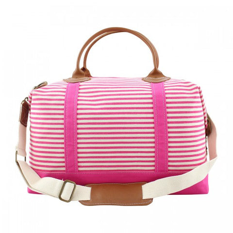 The Weekender - Hot Pink Stripes
