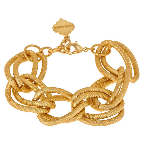 Teagan Chain Bracelet - Brushed Gold