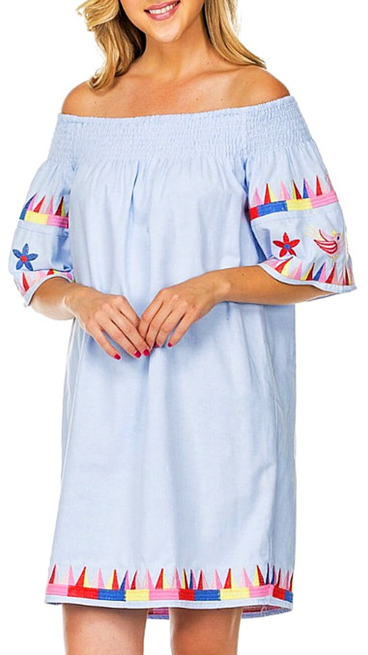 Positano Off-the-Shoulder Dress - Light Blue