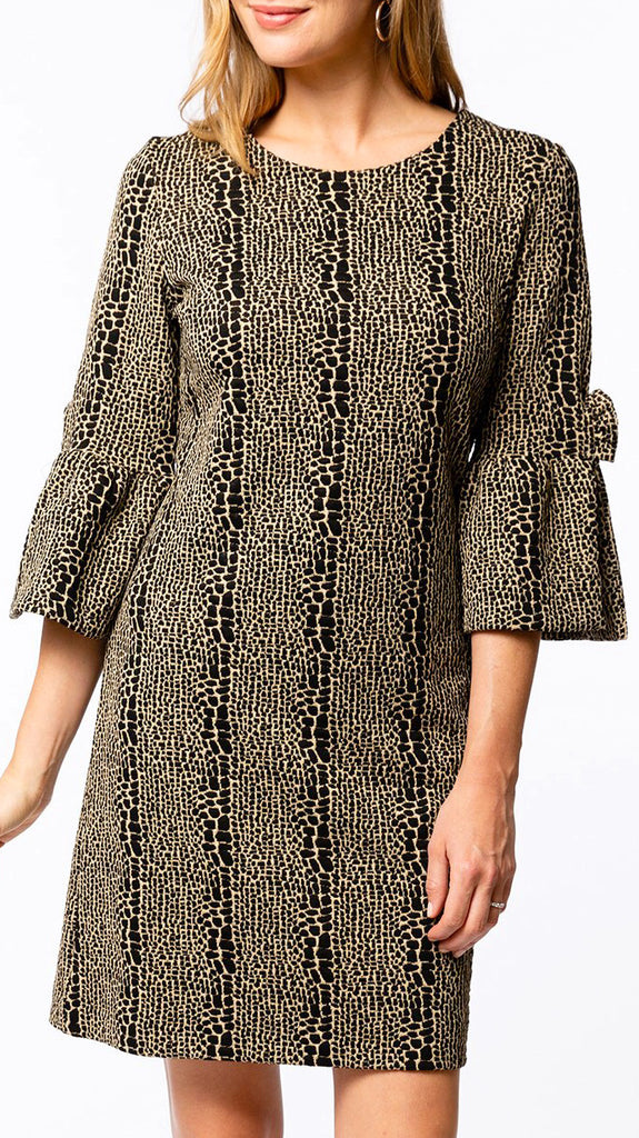 Sydney Jacquard Dress - Leopard