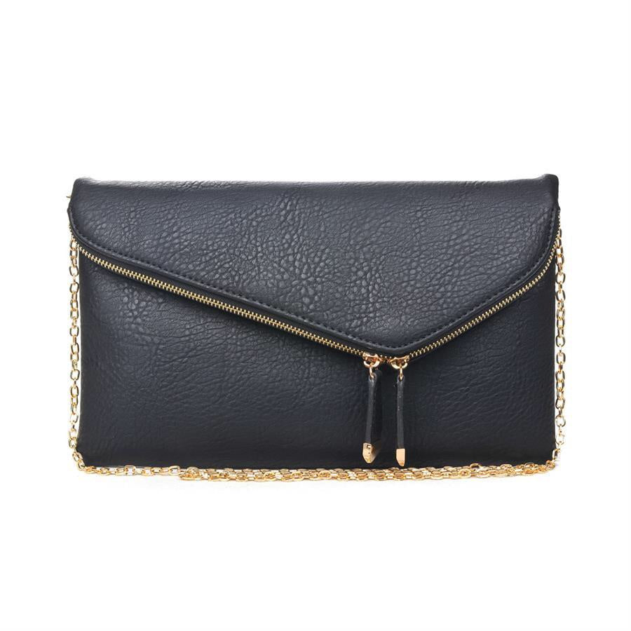 Stella Zip Crossbody - Black