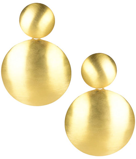 Robin Earrings - Brushed Gold