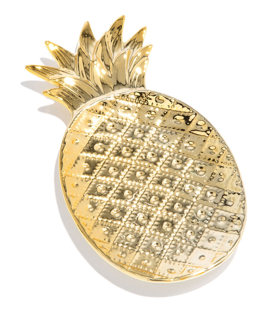 Pineapple Trinket Tray - Gold