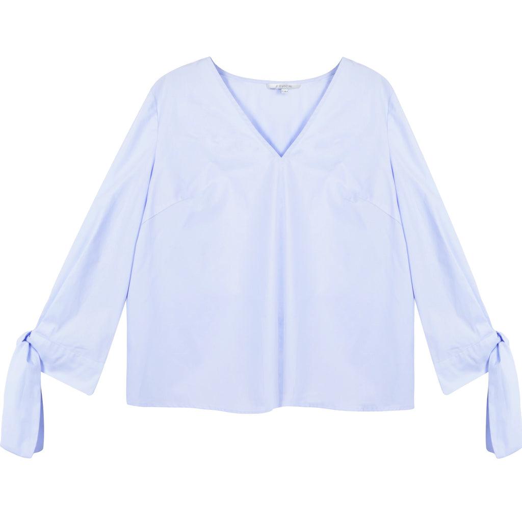 Prytania Tie Sleeve Top - Sky Blue