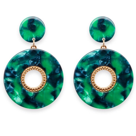 Fairfax Earrings - Green