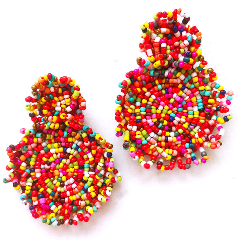 Beaded Disc Drops - Fiesta