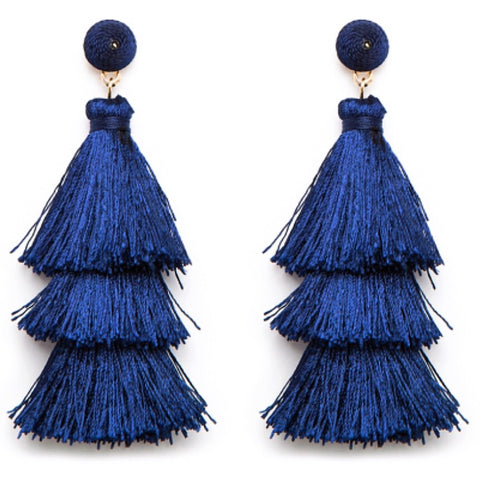 Tango Earrings - Navy