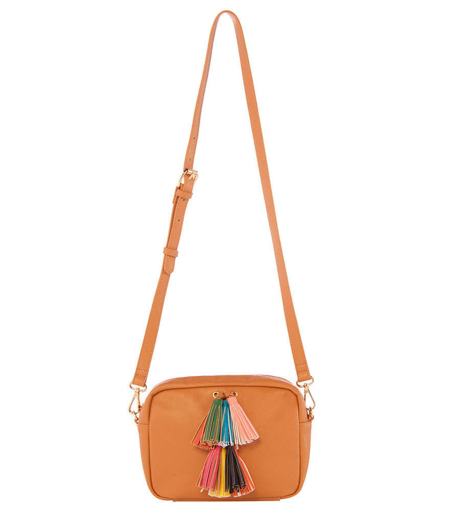 Maria Tassel Crossbody - Tan