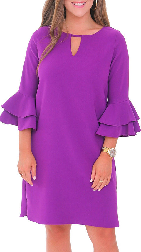 Harlow Dress - Ultra Violet