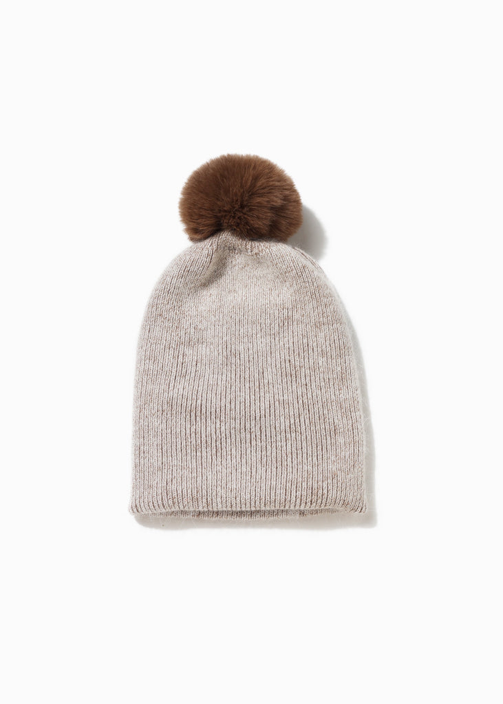 2-in-1 Scarf Hat Combo - Taupe