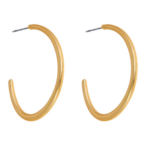 Savannah Hoops - Brushed Gold