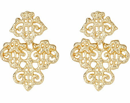 Monticello Earrings - Brush Gold