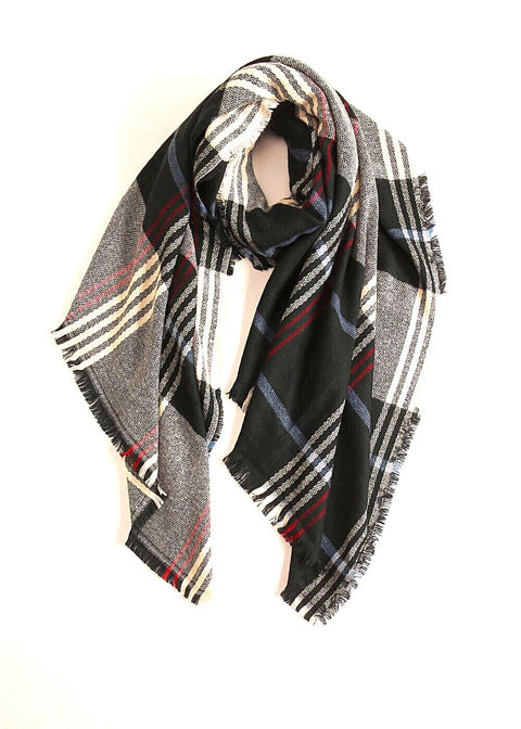 Plaid Scarf - Black