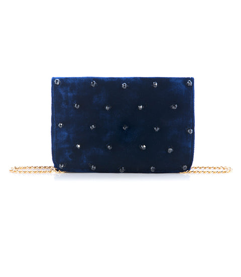 Ammiel Velvet Crossbody - Midnight