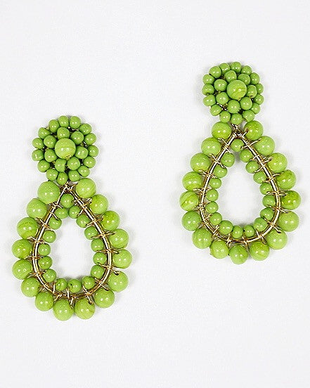Margo Earring - Lime