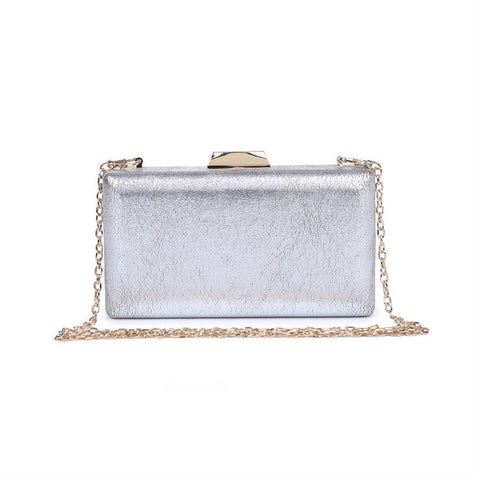 Flora Cocktail Clutch - Silver