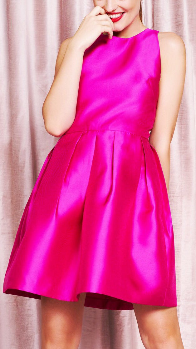 Parker Racerback Dress - Fuchsia