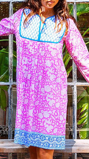 Jaipur Dress - Padra Print in Eva Pink *PRE-ORDER*