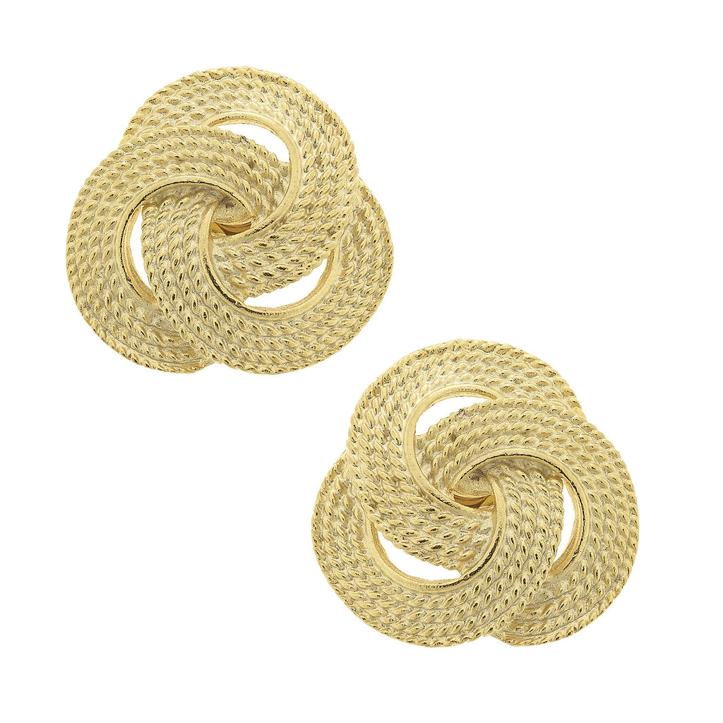 Tri-Knot Earrings - Gold