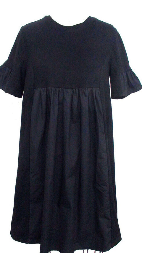 Easy Poplin Dress - Black