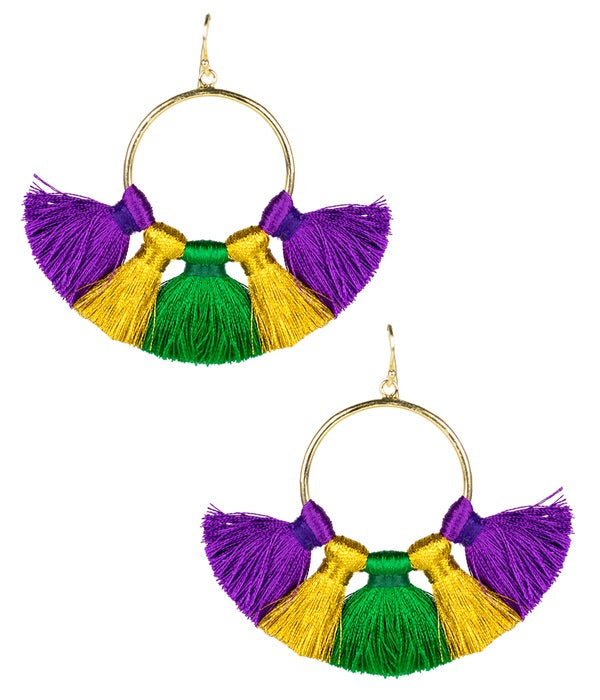 Izzy Earrings - Mardi Gras