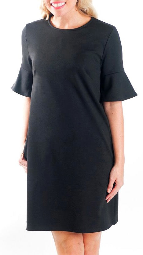 Diana Bell Sleeve Dress - Black