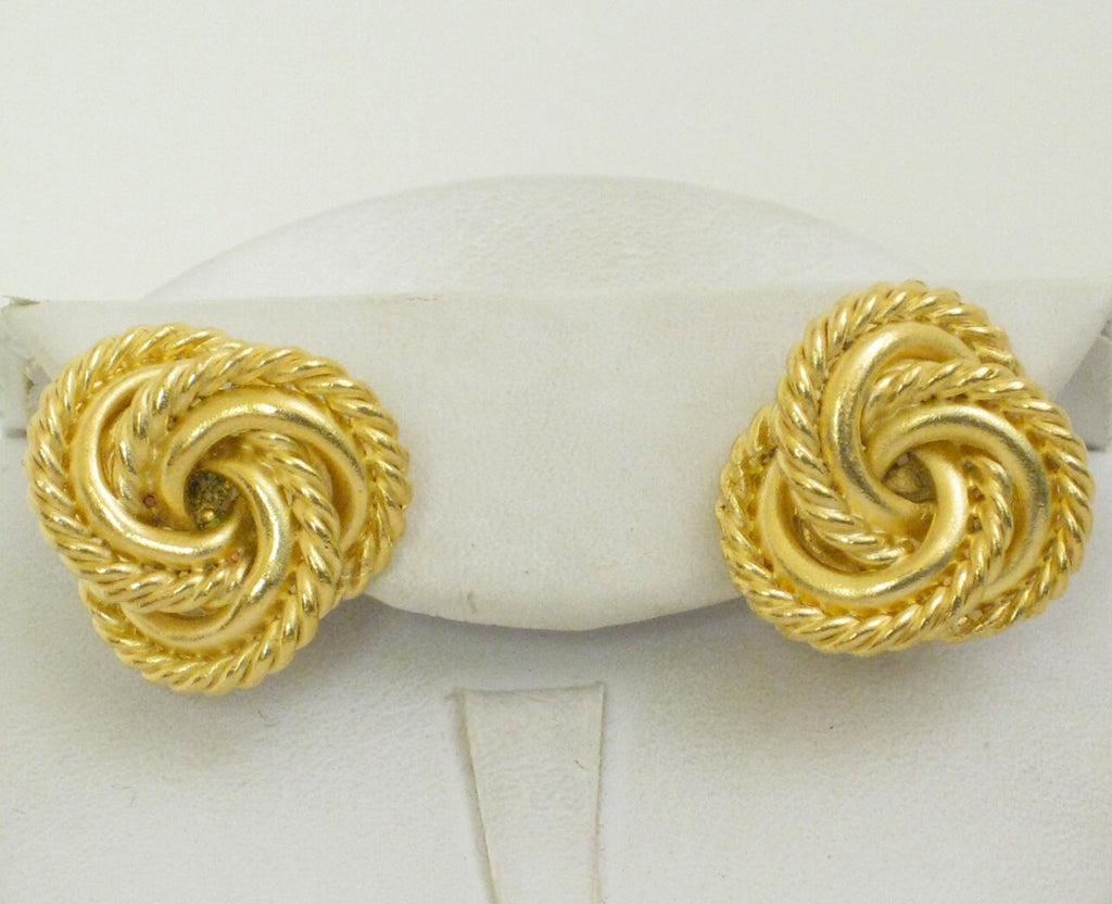 Woven Knot Earrings - Gold *POST*