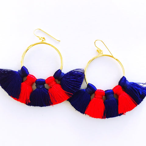 Gameday Earrings - Red + Blue