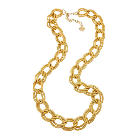 Teagan Chain Necklace - Brushed Gold