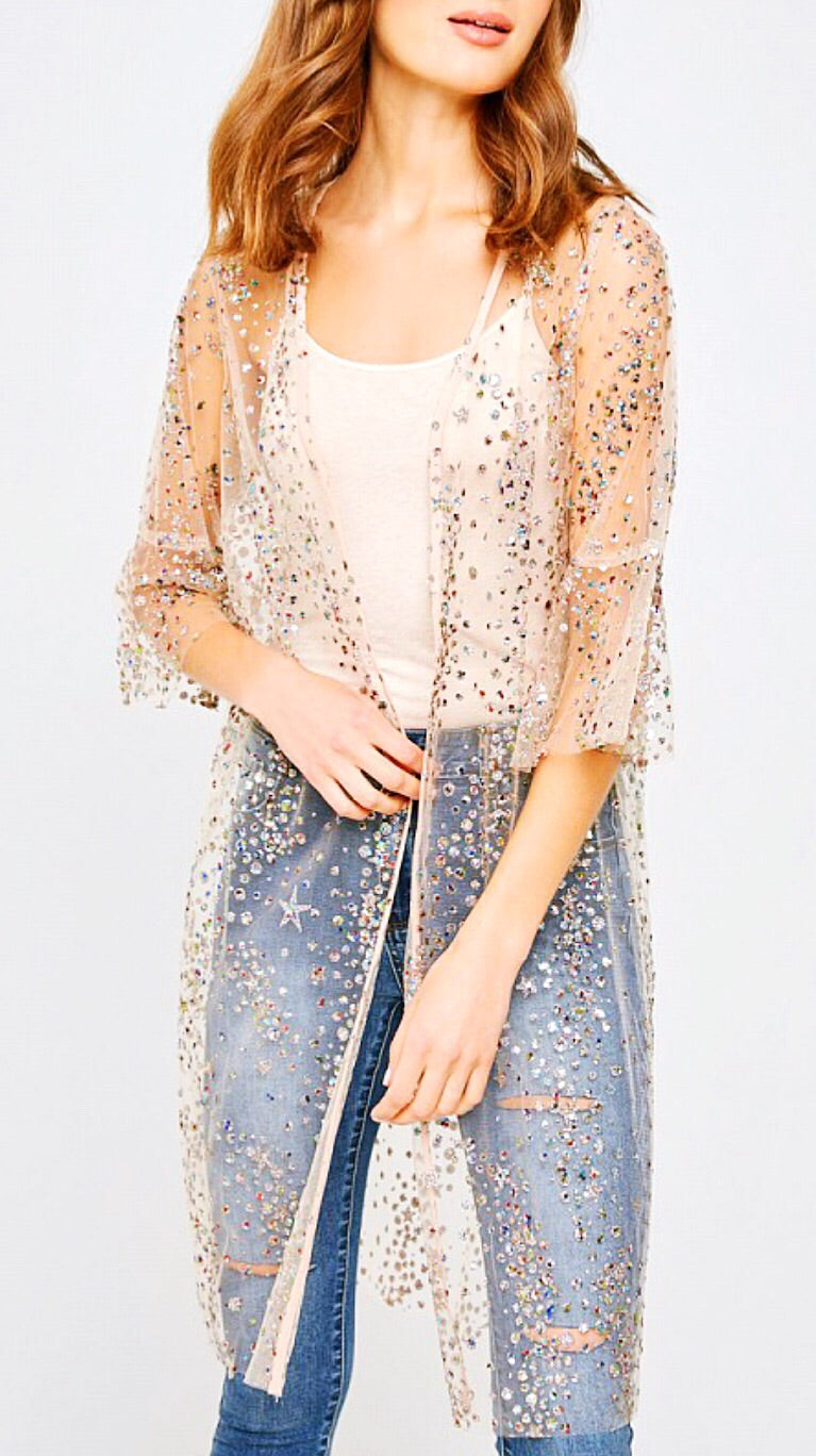Fizz Confetti Cocktail Jacket - Champagne