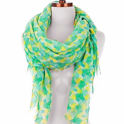 Summer Scarf - Green Palm Leaf