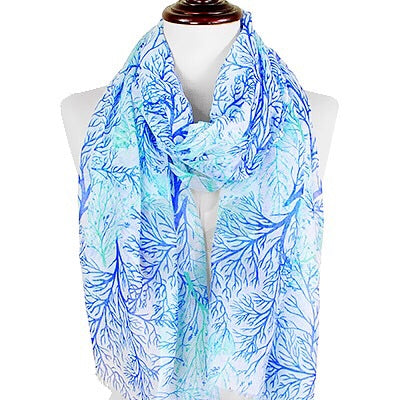 Summer Scarf - Blue Coral Reef