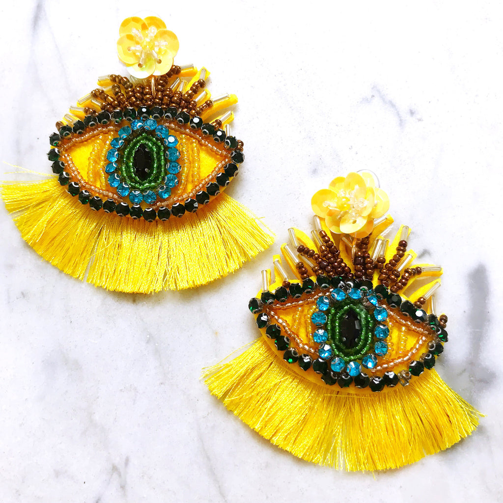 Holly Golightly Earrings - Canary
