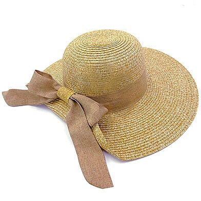 Summer Bow Hat - Tan