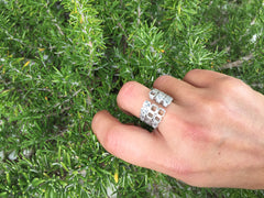Calçada ring silver with stones by Mater at by-PT online store