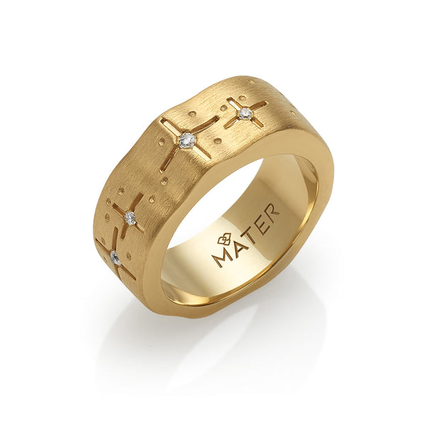 Ring yellow gold with diamonds Pyxis, Mater Jewellery Tales