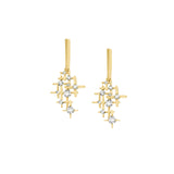 Earrings yellow gold with diamonds Pyxis