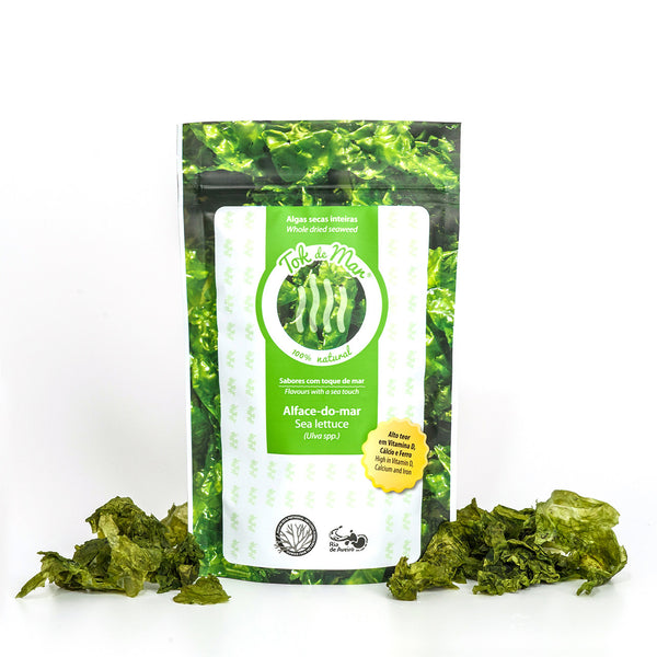Whole Dried Seaweed sea lettuce, Algas secas inteira alface do mar Tok de Mar by ALGAplus at by-PT.com