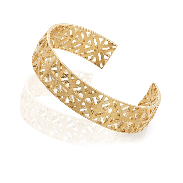 Bracelet golden plated or silver Azulejo, Mater Jewellery Tales, shop online earrings at by-PT, escrava Azulejo da Mater