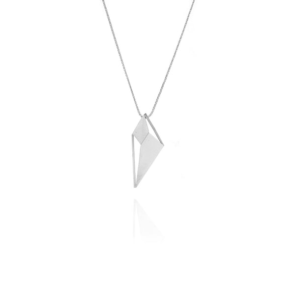 Lozenge necklace silver designed by Romeu Bettencourt
