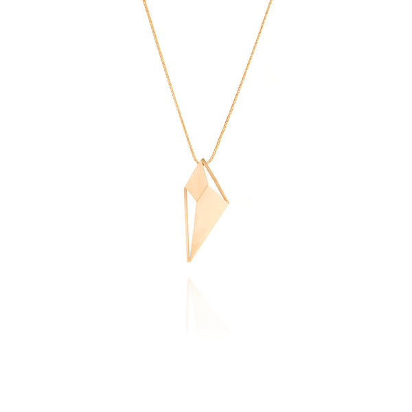 Lozenge necklace gold plated silver designed by Romeu Bettencourt